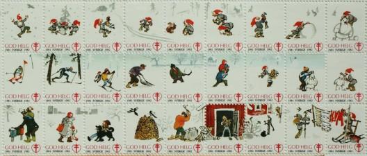 Bogenweise weihnachtliche Sonderbriefmarken
