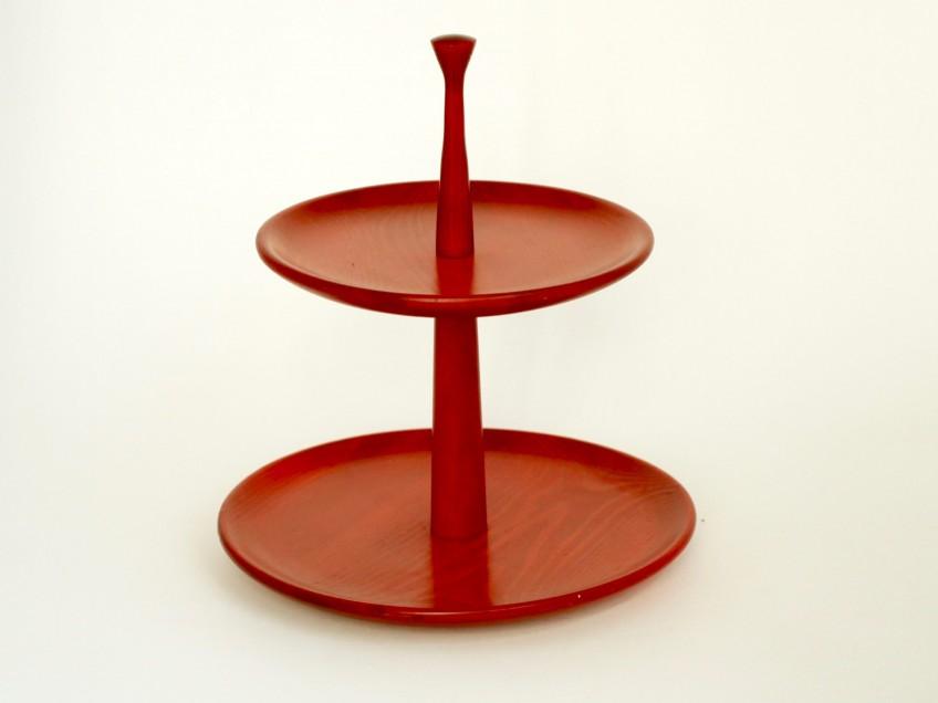 (SOLD) Etagère (Ø 25 cm, H 30 cm) - Karl Holmberg i Götene (S, 1960/70er)